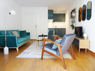31 m2 - Paris 14e Sandrine Carré Salon scandinave