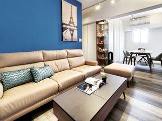 14坪 2房2廳老宅放大術 你你空間設計 客廳