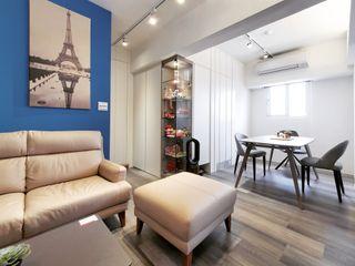 14坪 2房2廳老宅放大術 你你空間設計 餐廳