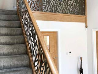 Laser cut balustrade infill panels – Frond Staircase Renovation درج