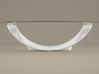 DABLEC di Tiziano Moletta ห้องนั่งเล่นโต๊ะกลางและโซฟา กระจกและแก้ว White