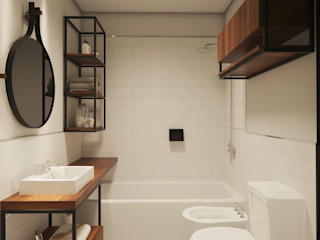 laura zilinski arquitecta Industrial style bathroom