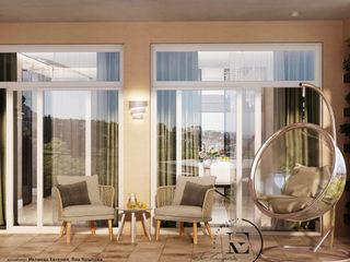 Квартира в стиле Soleray в Ялте. IvE-Interior балконы Бежевый