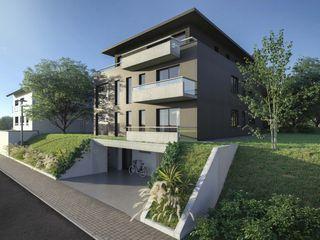 Residenz SQ Peter Stasek Architects - Corporate Architecture Mehrfamilienhaus Beton Grau