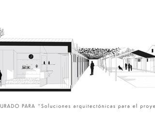 """Concurso """"Mi casita"""" A Coruña Ana Cabo Casas prefabricadas Aluminio/Cinc Blanco"""