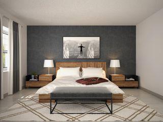Render de recamara RESILIENCIA By NUNCO Mobler Nunco Mobler DormitoriosCamas y cabeceras Aglomerado Acabado en madera