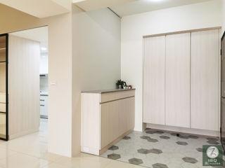 新北市土城區 ISQ 質の木系統家具 斯堪的納維亞風格的走廊,走廊和樓梯