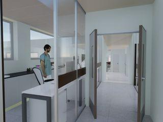 Ampliación TAMO Estudioviaarqs Hospitales de estilo industrial Cerámico