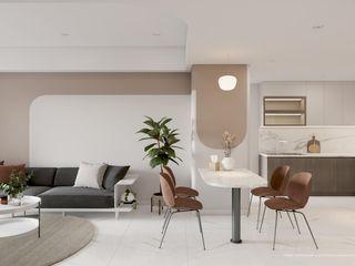 DỰ ÁN: THIẾT KẾ NỘI THẤT CHUNG CƯ 60M2 Công ty TNHH Tư vấn thiết kế xây dựng An Khoa Living roomSofas & armchairs