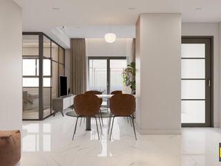 DỰ ÁN: THIẾT KẾ NỘI THẤT CHUNG CƯ 60M2 Công ty TNHH Tư vấn thiết kế xây dựng An Khoa Living roomSide tables & trays