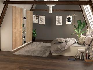 jouwMaatkast.nl BedroomWardrobes & closets Wood effect