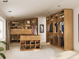 jouwMaatkast.nl Dressing roomWardrobes & drawers Wood effect
