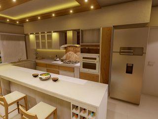 Aida tropeano& Asociados Modern kitchen Engineered Wood Beige