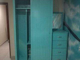 Pablo´S 寝室ワードローブ&クローゼット 無垢材 青色