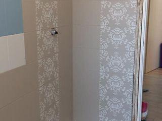 Dipingere le piastrelle del bagno con Autentico Chalk Paint Mobili a Colori Bagno moderno Piastrelle Beige