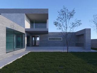 Проект современного двухэтажного дома с панорамными окнами Way-Project Architecture & Design Загородные дома