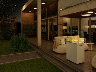 Außenkamine für Garten und Terrasse SPA Deluxe GmbH - Whirlpools in Senden Moderner Balkon, Veranda & Terrasse