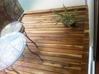 Terrazas en Deck Natural Onice Pisos y Decoracion Balcón Madera