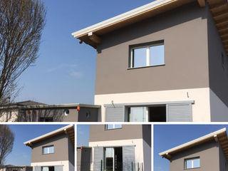 Villa Cristina MENGON LEGNAMI SRL Casa di legno Grigio