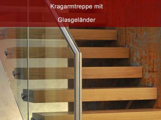 MetallArt Treppen GmbH Corridor, hallway & stairs Stairs Brown