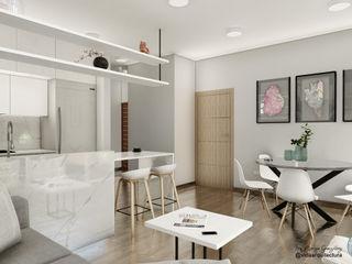 Visualización arquitectónica Vida Arquitectura Salas/RecibidoresSofás y sillones Textil Beige