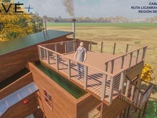 Nave + Arquitectura & Modelación Paramétrica Balcones y terrazas de estilo rústico