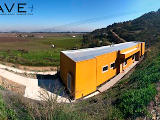 Vivienda Dúplex. CerroCristal, Curicó. Nave + Arquitectura & Modelación Paramétrica Casas de estilo mediterráneo