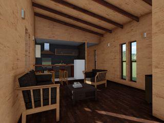 Refugio de Montaña 75 m2 Nave + Arquitectura & Modelación Paramétrica Livings de estilo minimalista