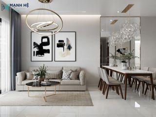 NỘI THẤT CĂN HỘ THE BOTANICA PHỔ QUANG 73M2 - 2 PN (A.HỮU) Công ty Cổ Phần Nội Thất Mạnh Hệ Phòng khách