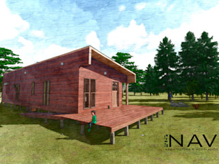 Refugio de Montaña 75 m2 Nave + Arquitectura & Modelación Paramétrica Cabañas