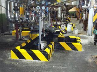 Señalización con pintura en industrias Rai Pintores - Pintores Industriales Oficinas y tiendas de estilo industrial