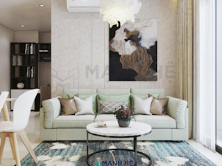 Nội thất chung cư Vinhomes Grand Park - 50m2, 1 PN - Cô Đào, Q9 Công ty Cổ Phần Nội Thất Mạnh Hệ Phòng học/văn phòng phong cách hiện đại Gỗ thiết kế Turquoise