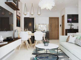 Nội thất chung cư Vinhomes Grand Park - 50m2, 1 PN - Cô Đào, Q9 Công ty Cổ Phần Nội Thất Mạnh Hệ Living roomSide tables & trays