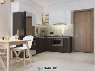 Nội thất chung cư Vinhomes Grand Park - 50m2, 1 PN - Cô Đào, Q9 Công ty Cổ Phần Nội Thất Mạnh Hệ KitchenAccessories & textiles