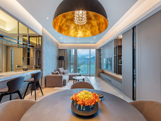 A Boutique Living Area for a Family of Four - Cullinan West, Hong Kong Grande Interior Design Modern dining room