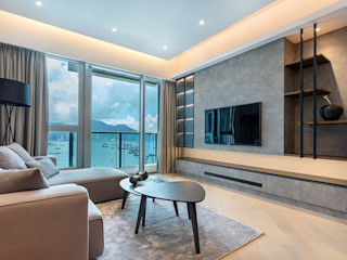 A Boutique Living Area for a Family of Four - Cullinan West, Hong Kong Grande Interior Design Modern living room