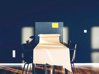 Moderne Bürofläche im Industriecharakter hysenbergh GmbH   Raumkonzepte Duesseldorf Industriale Bürogebäude Schwarz