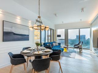 Multi-functional Living Area, a Private Dancing Studio - The Coronation, Hong Kong Grande Interior Design Modern living room