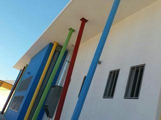Jardín Infantil y Sala Cuna Amanecer de Florida, Talca. Nave + Arquitectura & Modelación Paramétrica Casas de estilo mediterráneo
