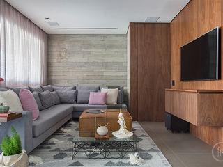 Apartamento Niterói fpr Studio Sala de estarAcessórios e Decoração Cinza