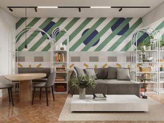Apartamento Leme fpr Studio Sala de estarAcessórios e Decoração Multi colorido