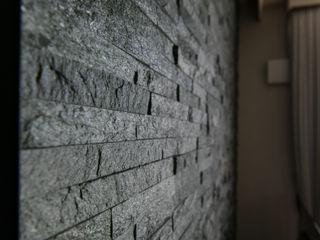 ナイトウタカシ建築設計事務所 Modern Living Room Marble Black