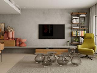 Apartamento Cidade Jardim fpr Studio Sala de estarAcessórios e Decoração Cinza