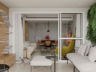 Apartamento Cidade Jardim fpr Studio Varanda, alpendre e terraçoMobiliário Branco