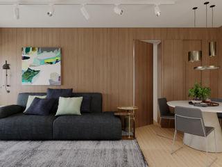 Apartamento Flamengo fpr Studio Sala de estarArmários e arrumação