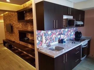 Remodelación completa de departamento Modena Arquitectura, S.A. de C.V. Cocinas pequeñas