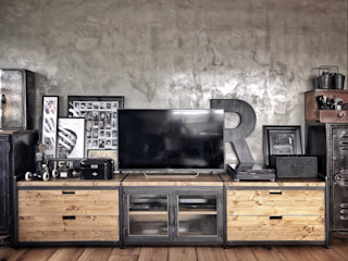 銳龍工藝設計 Living roomTV stands & cabinets Solid Wood Black