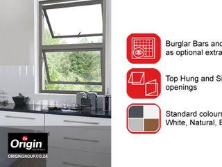 Casement Window Range Origin Aluminium (Pty) Ltd Minimal style window and door Aluminium/Zinc
