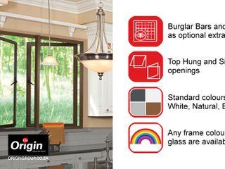 Casement Window Range Origin Aluminium (Pty) Ltd Modern windows & doors Aluminium/Zinc