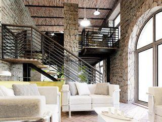 vivo arquitectura Salones rústicos rústicos Madera